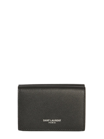 Saint Laurent Logo Fold Wallet