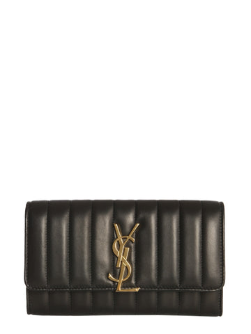 Saint Laurent Vicky Large Matelassé Wallet