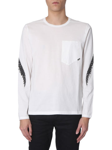Stone Island Shadow Project Printed Long-Sleeved T-Shirt