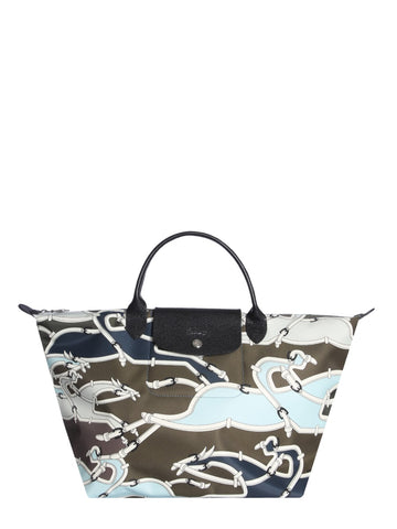 Longchamp Camouflage Pattern Tote Bag