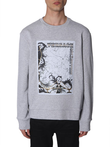 Versace Collection Graphic Printed Sweatshirt