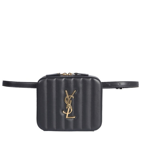 75447e0b01ef Saint Laurent Vicky Quilted Belt Bag