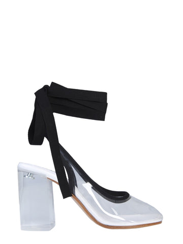 Mm6 Maison Margiela Ankle Bow Pumps