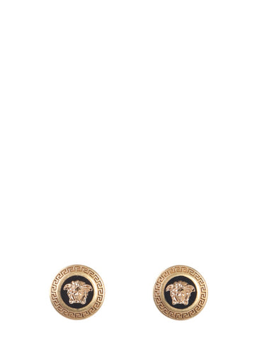 Versace Small Enamel Medusa Earrings