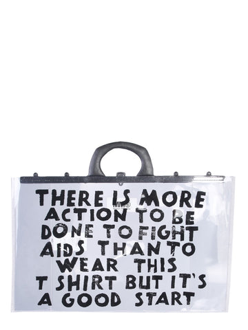 Mm6 Maison Margiela Slogan Tote Bag