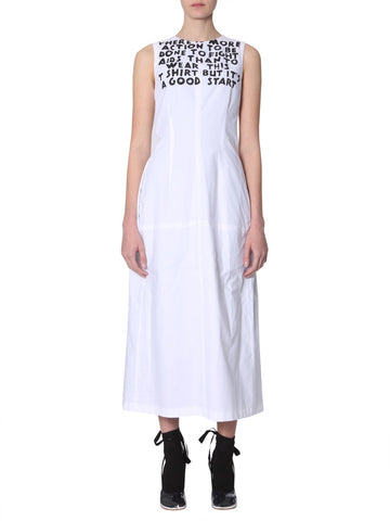 Mm6 Maison Margiela Text Print Dress
