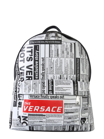 Versace Newspaper Print Backpack