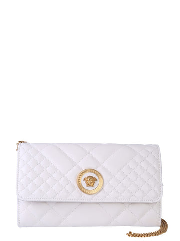 Versace Logo Embossed Shoulder Bag
