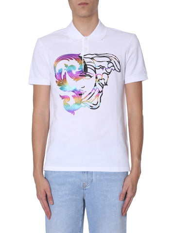 Versace Collection Medusa Print Polo Shirt