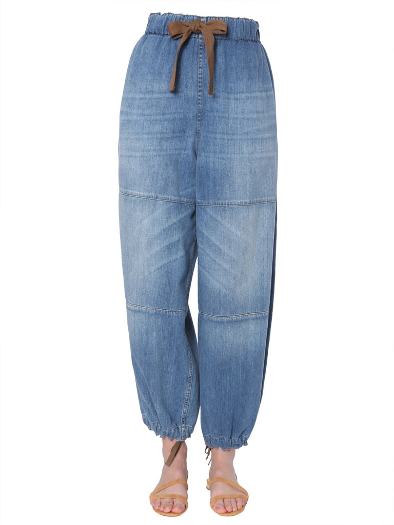 Brunello Cucinelli Loose-Fit Drawstring Jeans