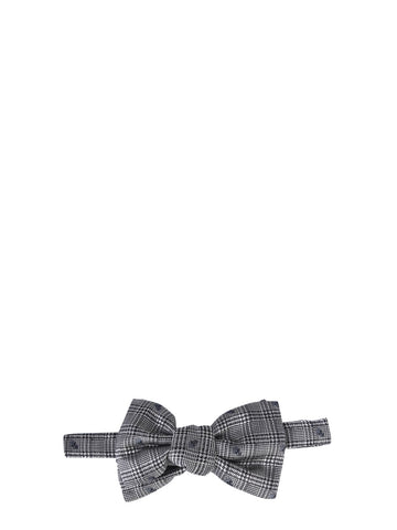 Alexander McQueen Checked Bow Tie