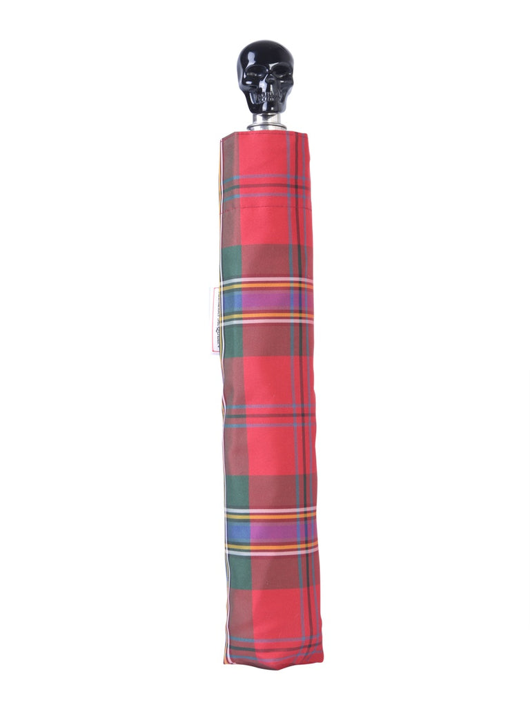 Alexander McQueen Checked Umbrella