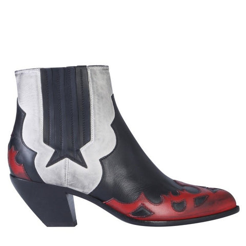 Golden Goose Deluxe Brand Contrasting Panelled Cowboy Boots