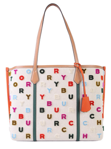 Tory Burch Perry Fil Coupé Logo Tote Bag