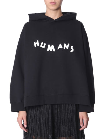 Mm6 Maison Margiela Humans Print Hoodie