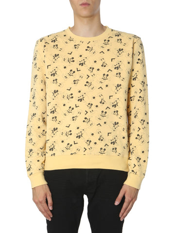 Saint Laurent Mickey Mouse Print Sweater