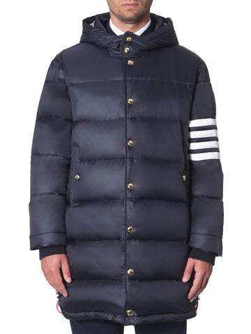 Thom Browne 4 Stripe Padded Hooded Coat