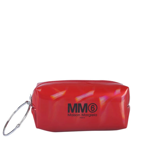 Mm6 Maison Margiela Logo Ring Handle Clutch Bag