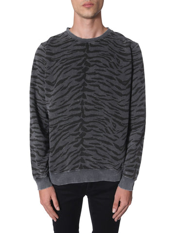 Saint Laurent Zebra Print Sweater