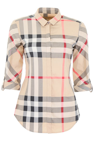 Burberry House Check Concealed Placket Shirt