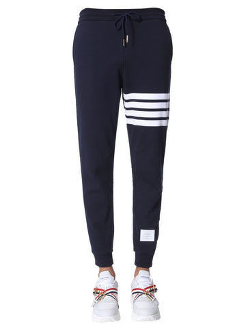 Thom Browne Logo Patch 4 Stripe Sweatpants