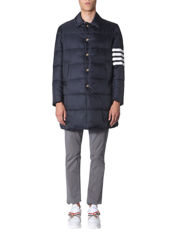Thom Browne 4 Stripe Padded Nylon Coat