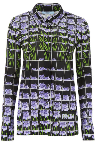 Prada Mixed Print Blouse