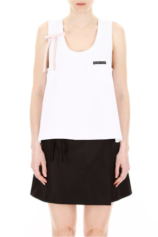 Prada Bow Embellished Tank Top