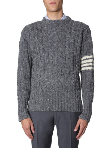 Thom Browne 4 Bar Cable Knit Sweater