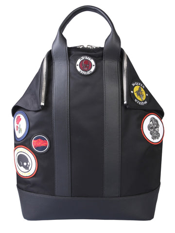Alexander McQueen Logo Patch Backpack
