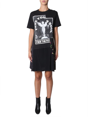 McQ Alexander McQueen Printed Floral Patchwork T-Shirt Dress