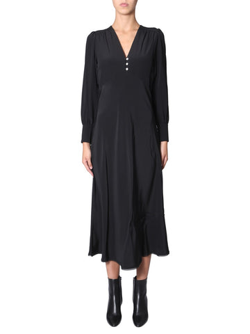 McQ Alexander McQueen V-Neck Midi Dress