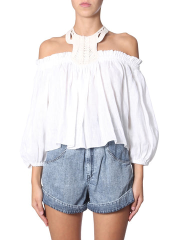 Isabel Marant Goundy Off Shoulder Top