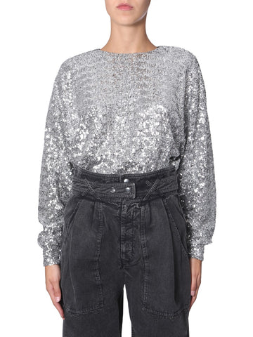 Isabel Marant Sequin Long-Sleeve Blouse