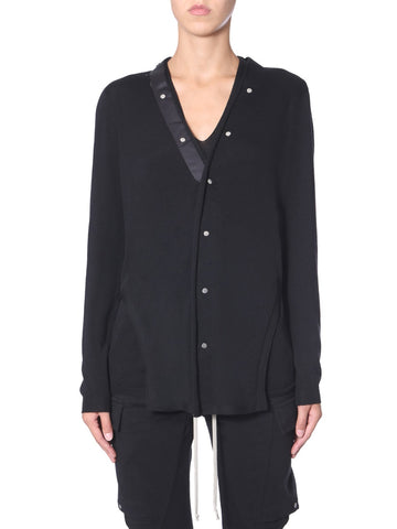 Rick Owens Button-Up Side Slits Cardigan
