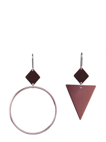 Isabel Marant Geometric Detail Drop Earrings