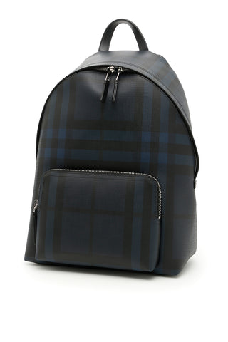 Burberry London Check Leather Trim Backpack