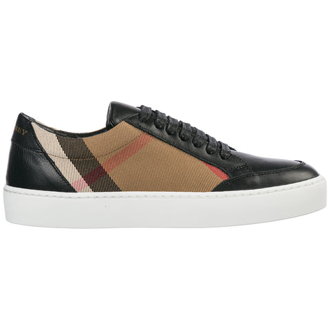 Burberry Check Detail Sneakers