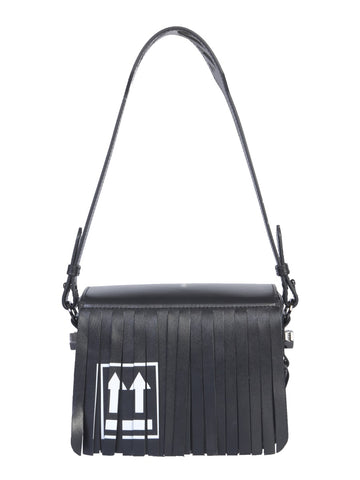 Off-White Fringed Logo Printed Shoulder Bag