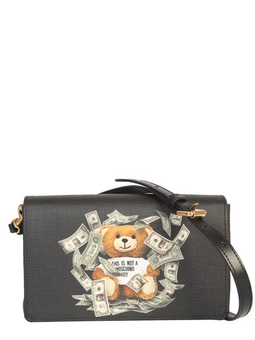 Moschino Teddy Dollar Logo Shoulder Bag