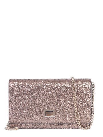 Jimmy Choo Lizzie Glitter Clutch Bag