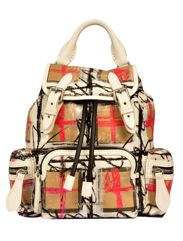 Burberry Scribble Checked Backpack