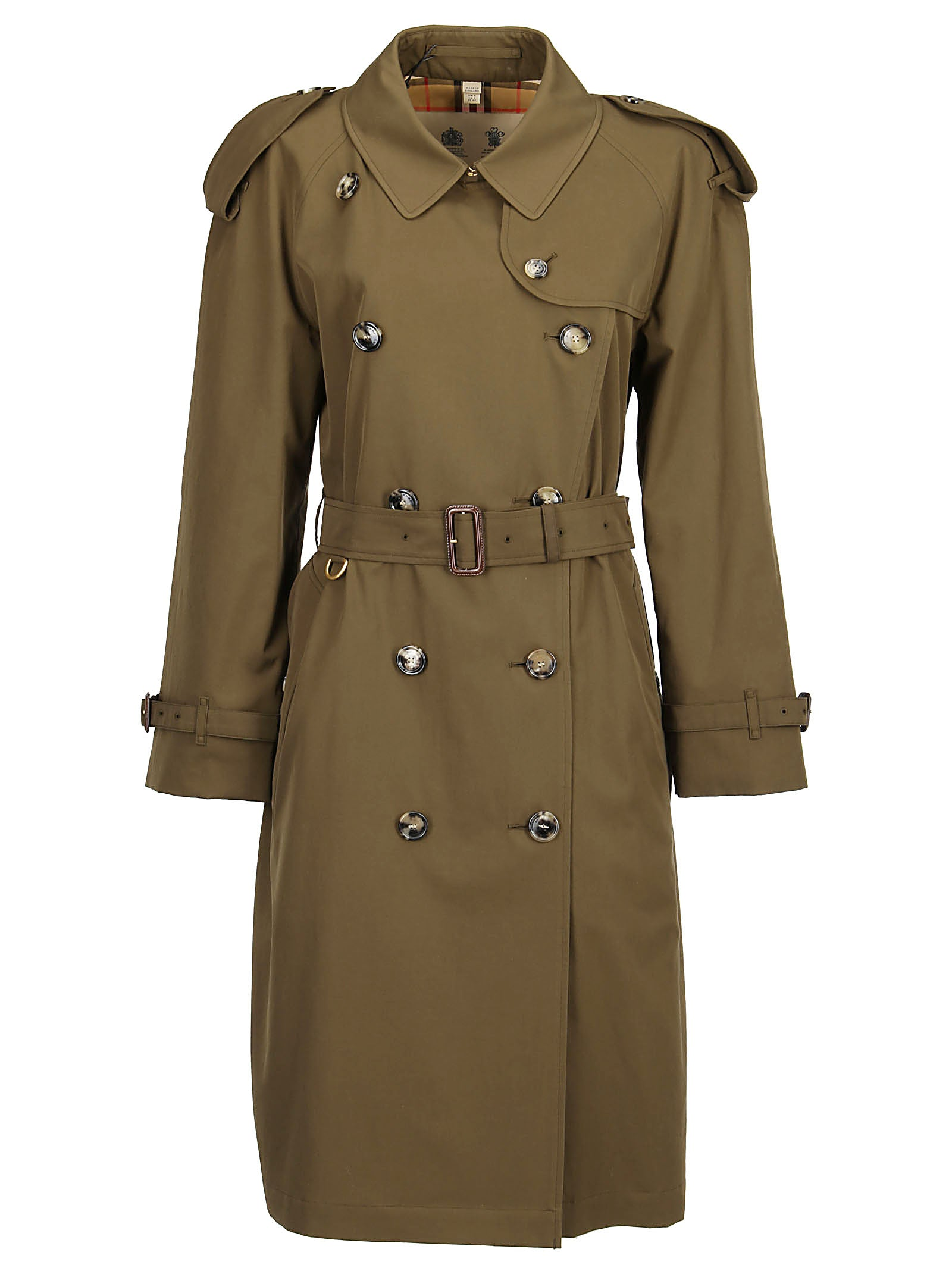 a505fbb66c BURBERRY Burberry Westminster Heritage Double Breasted Trench Coat in Green