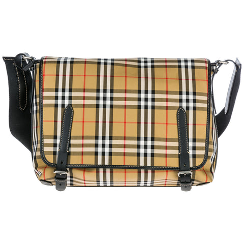 Burberry Large Vintage Check Messenger Bag