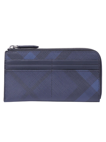 Burberry Checked Zipped Wallet