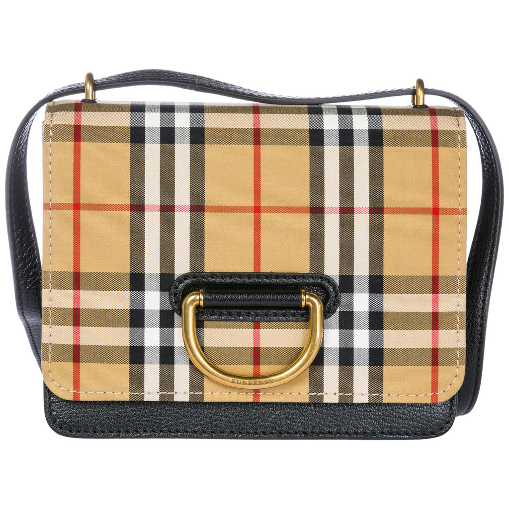 Burberry Small Vintage Check Print D-Ring Crossbody Bag – Cettire c2277ce150f28