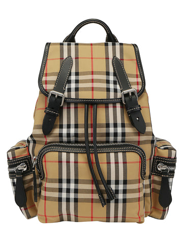 Burberry Medium Checked Foldover Backpack