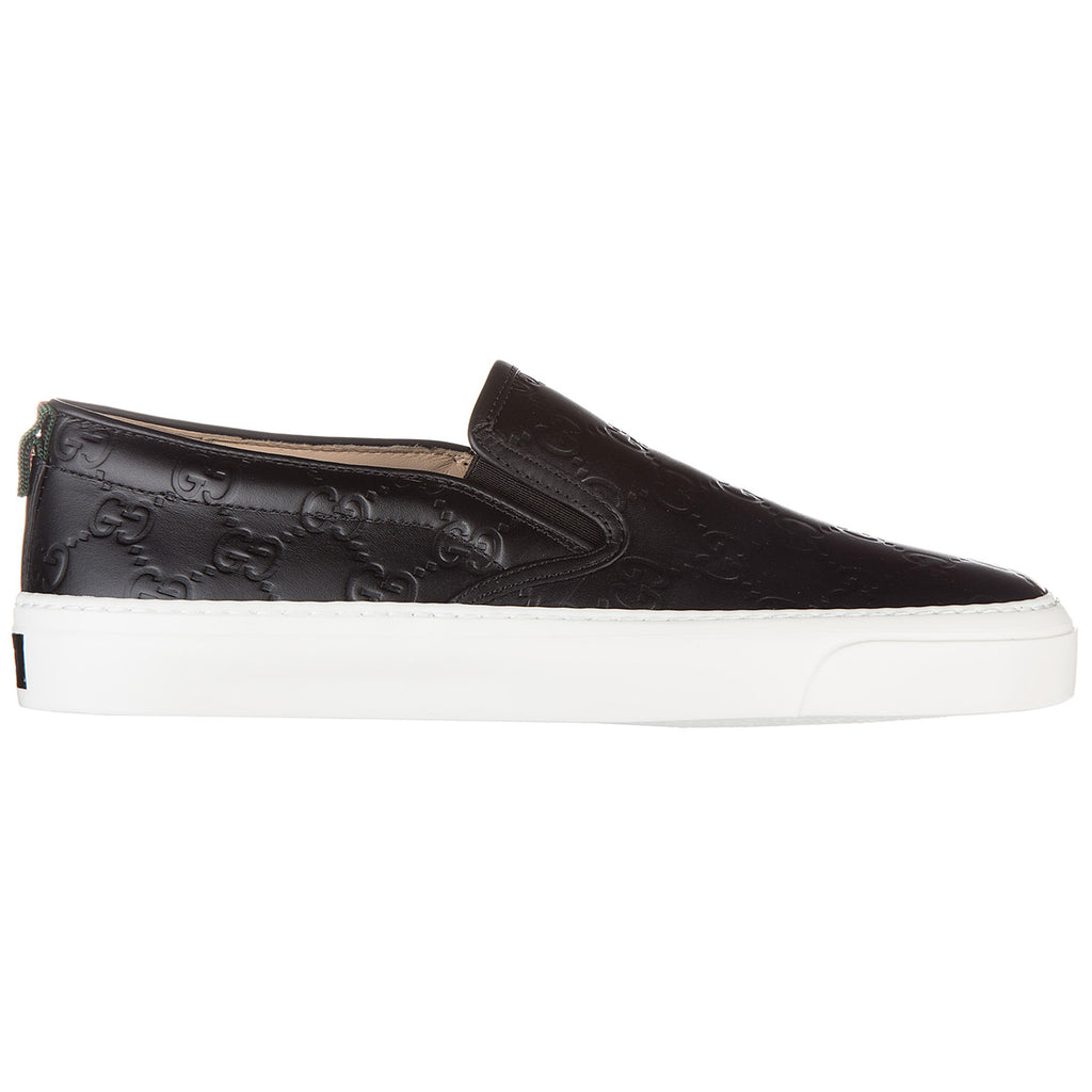 dae07b80c89 Gucci Signature Logo Embossed Slip-On Sneakers – Cettire