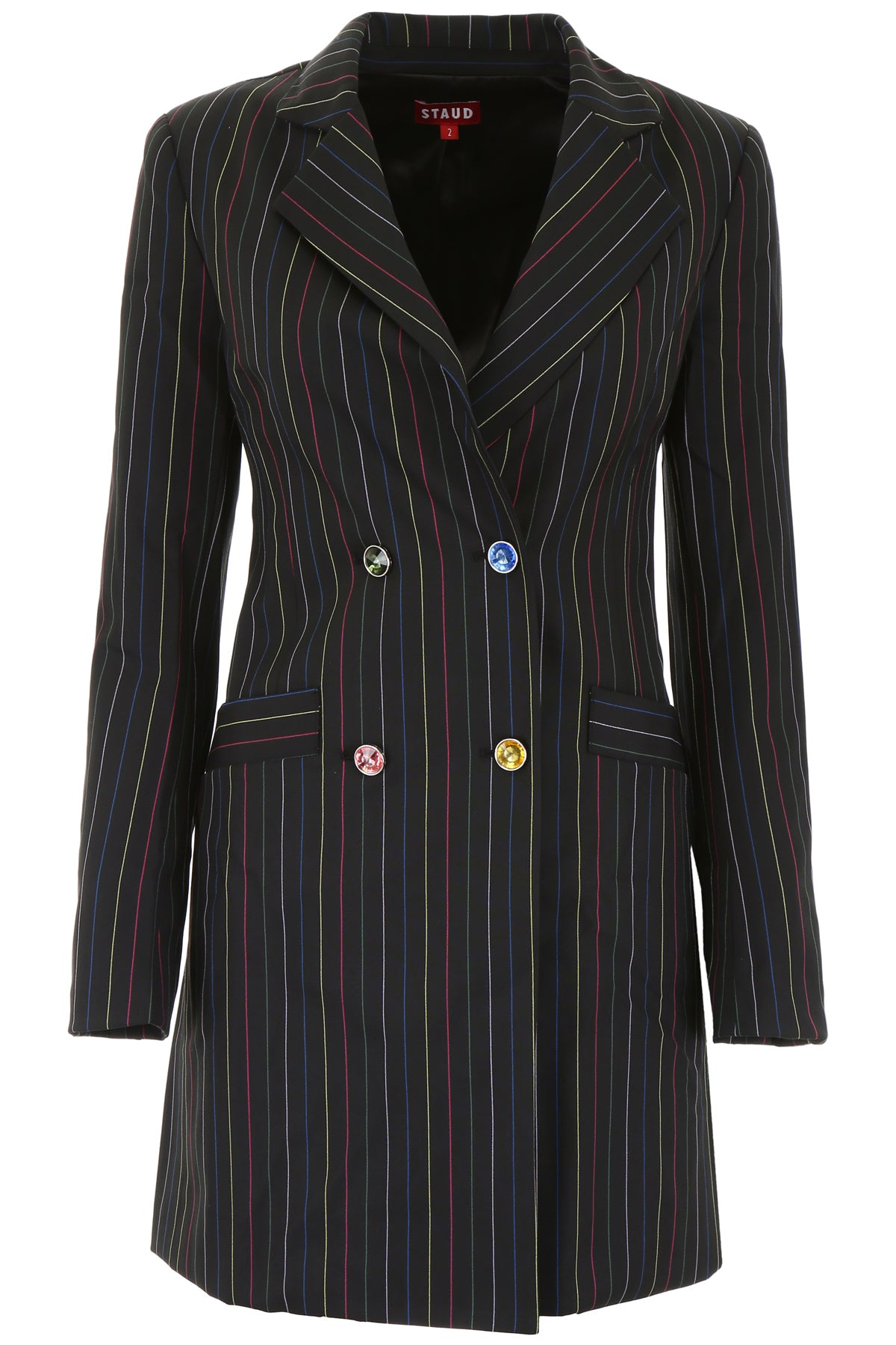 Staud Blazers STAUD ROXY PINSTRIPED BLAZER MINI DRESS