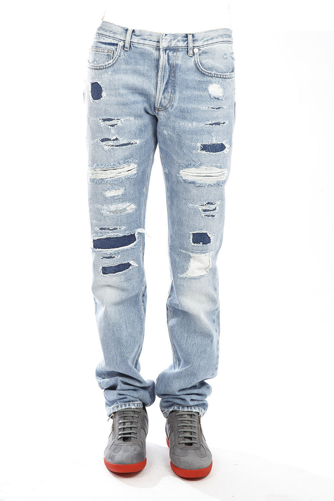 Dior Homme Destroyed Denim Jeans
